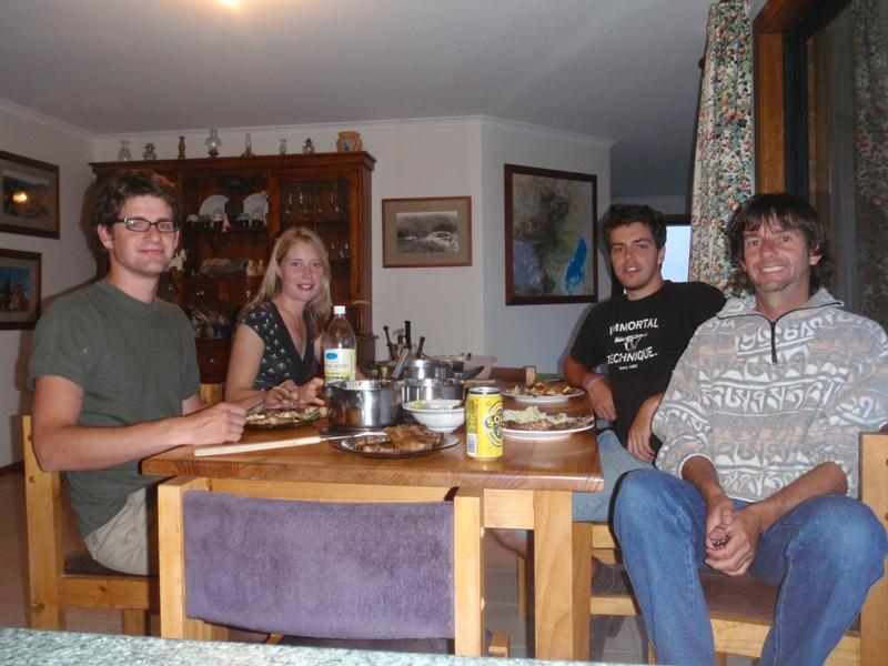 2008 December Timo (German), Nadine (German),  Kristoff (Belgium) and Steve