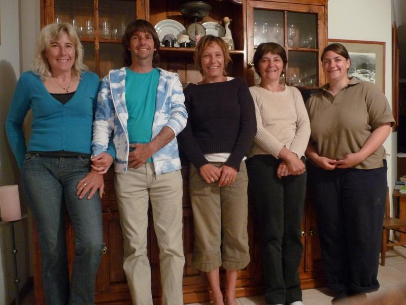 2008 October Ruth, Steve, Laura (Fra), Sophie (Fra), Sonja (German).jpg