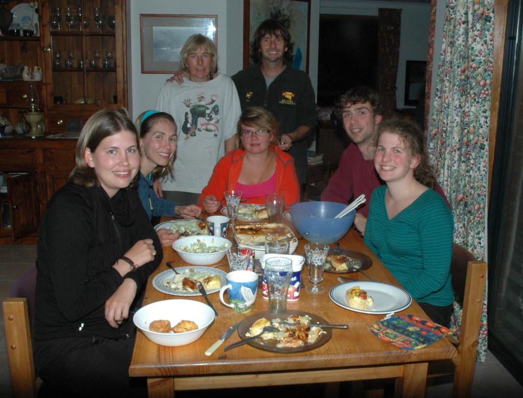 2009 April Lisa (Ger), Amanda (Can), Ruth, Steve, Ali (Ger), Hans (Bel), Marieke (Bel)