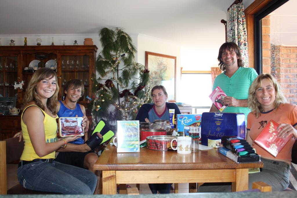 2009 December Anne (Ger), Simon (Ger), Els (Bel), Steve and  Ruth Xmas Day