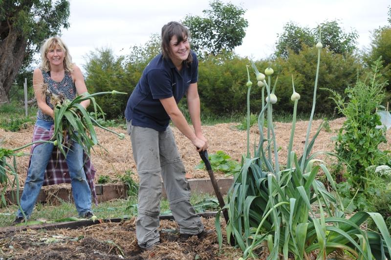 2009 December Ruth, Jose (Holl) veggie patch