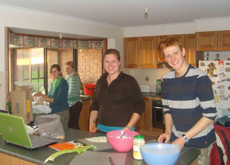2009 May Kristen (Ger), Sophie (Ger), Anne (Ger)and Marc(UK)