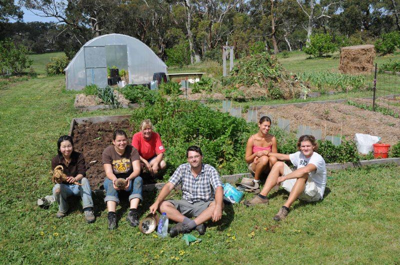 2009 October Waka (Jpn), Andrea (Ger), Ruth, Nils (Ger), Lara (Ger) and Lars (Ger)