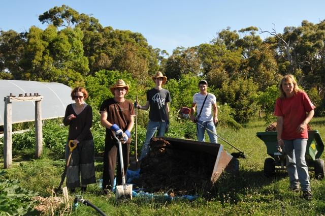 2012 November Charlie (Aussie) Sylvian (Fra), Eric (Fra), Wilfried (Fra) and Ruth