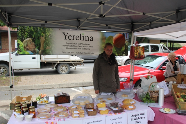 2014 March Marika selling the baking on the Yerelina stall at a local country market