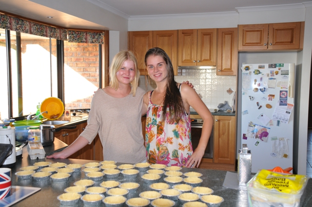2014 March Charleen(Ger) and Lisa(Ger) helping with the baking
