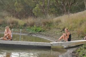 2014 April Ilona(Fra) Marie(Fra) swimming in our dam